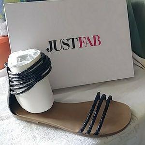 Black sandals. Size 9. Never worn